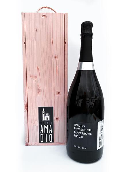 Asolo Prosecco Superiore DOCG Extra Dry – MAGNUM 1,5 l – Dárkové balení – Tenuta Amadio